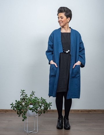 Coat ADELE blue