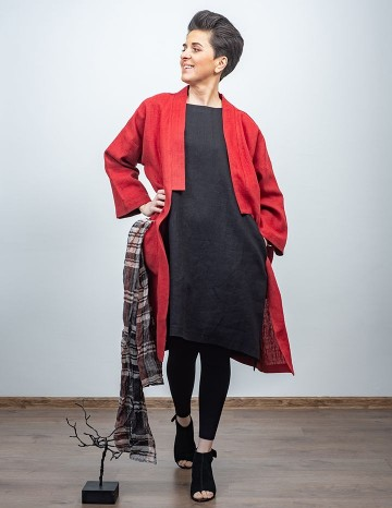 Coat ADELE terracotta-red