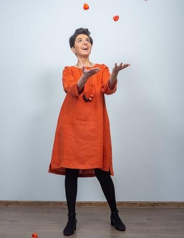 Kleit MONICA terrakota-oranz