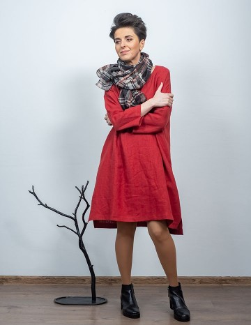 Dress MONICA terracotta-red