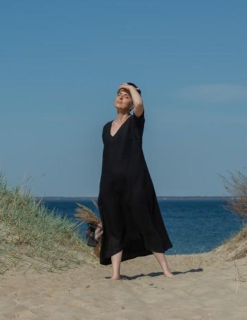 Long dress EVA black