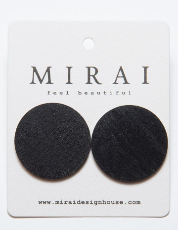 Earrings MODERN full moon black