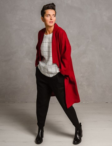 Kimono mantel ADELE punane