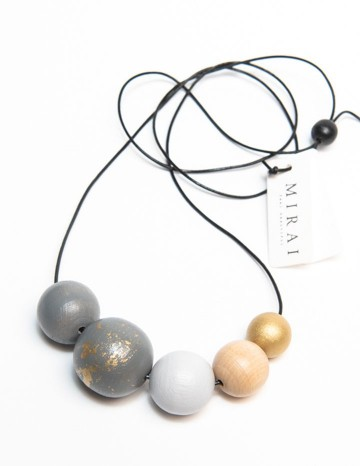 Necklace TREND double grey