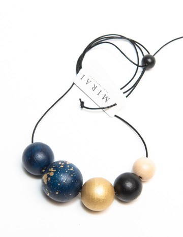 Necklace TREND double darkblue
