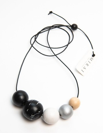 Necklace TREND double black