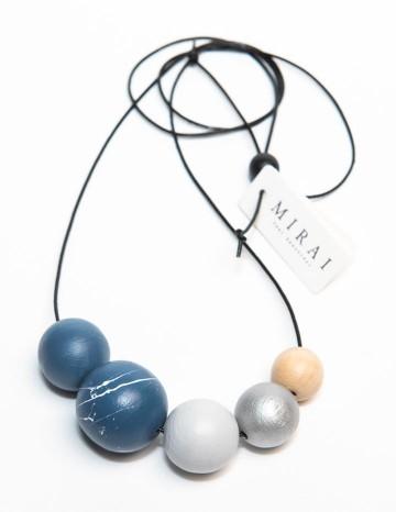 Necklace TREND double blue