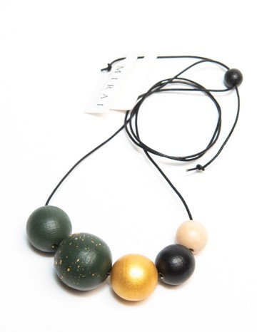 Necklace TREND jungle green