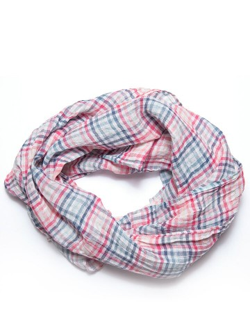 Scarf blue/pink/white