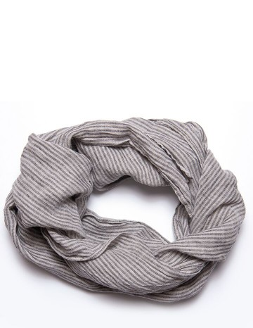 Scarf gray/white stripe