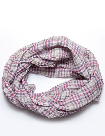 Scarf purple/pink/white