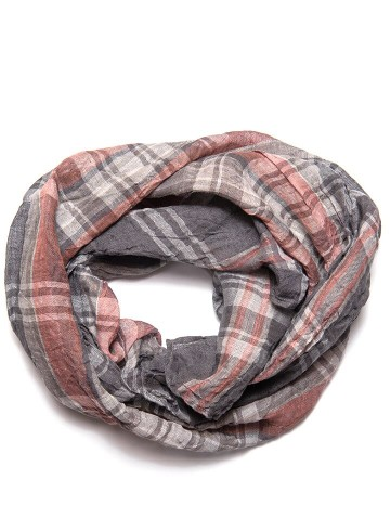 Scarf gray/pink