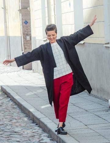 Kimono coat ADELE black