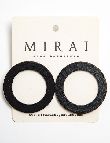 Earrings MODERN black circle