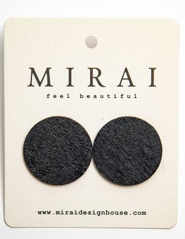 Earrings MODERN black dot