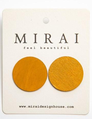 Earrings MODERN yellow dot