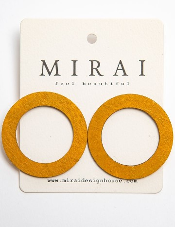 Earrings MODERN yellow circle