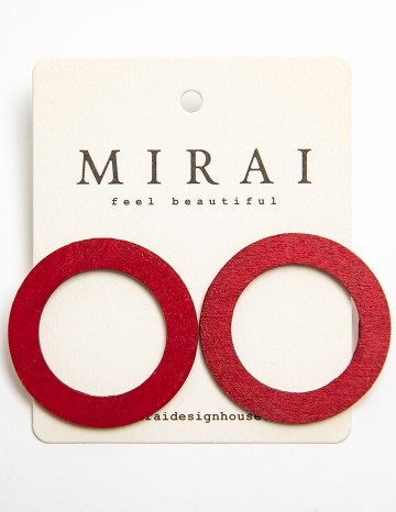 Earrings MODERN red circle